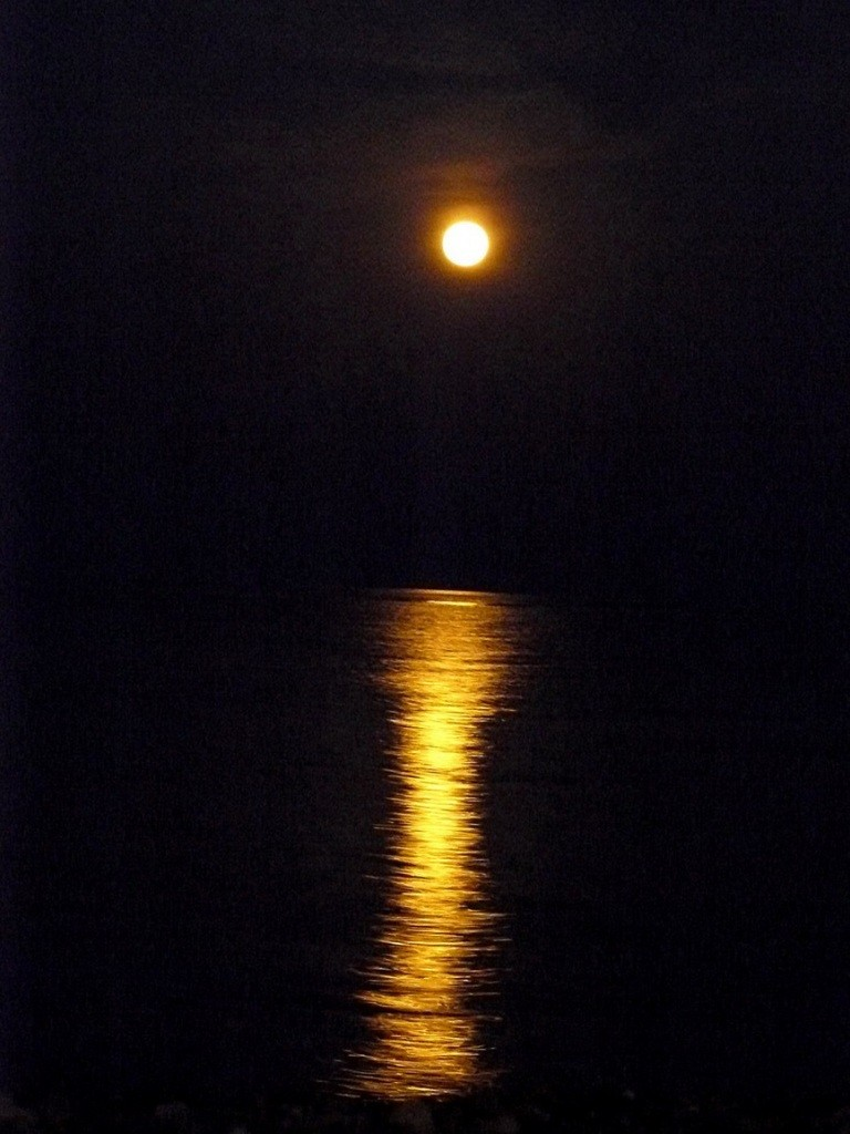 Crimea, Крым, Ялта, луна, море