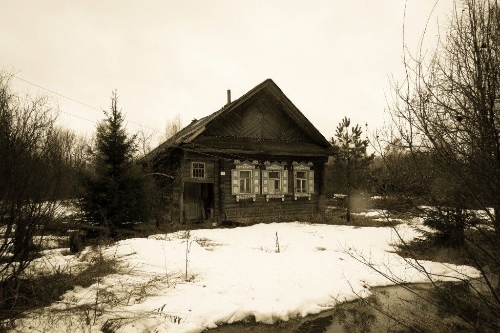 русская деревня, деревня, Россия, весна