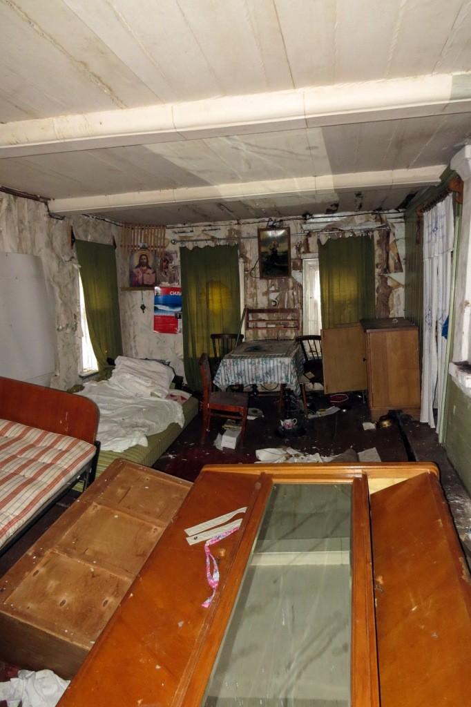 Комната с провалившимся полом