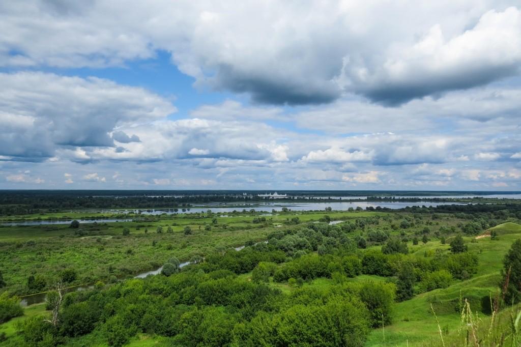 Лысково, Лысая гора, пейзаж, Волга, панорама, Макарьевский монастырь
