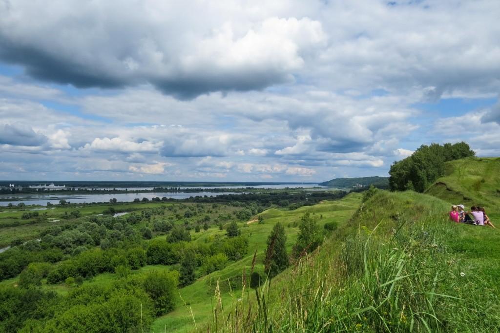 Лысково, Лысая гора, пейзаж, Волга, панорама