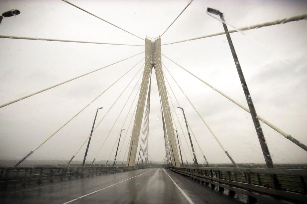 на автомобиле, дорога, муромский мост