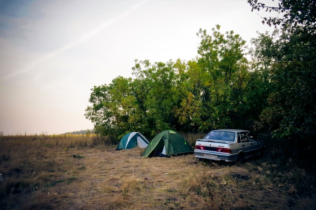 Крым, на автомобиле, дорога, кемпинг