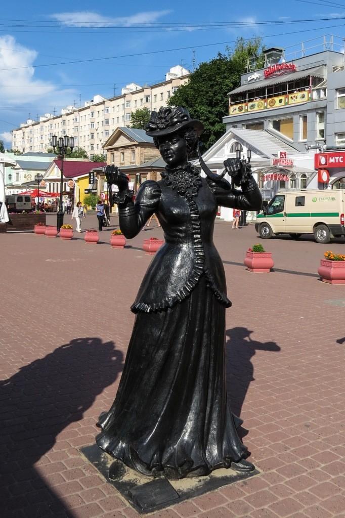 модница, октябрь, Нижний Новгород, Большая Покровская, Покровская, Покровка, достопримечательности, памятники, пешеходная улица