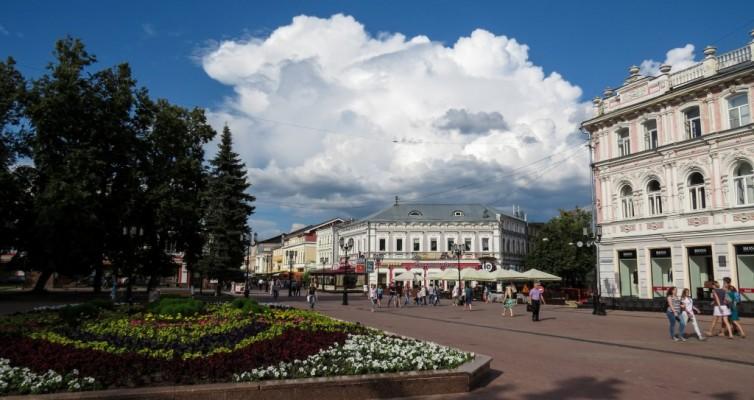 Нижний Новгород, Большая Покровская, Покровская, Покровка, достопримечательности, памятники, пешеходная улица