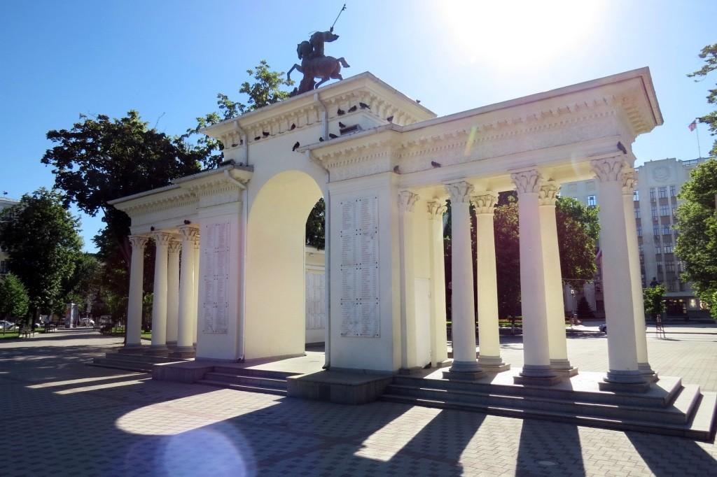 Краснодар, Красная, достопримечательности, история, Жуков, парк, арка