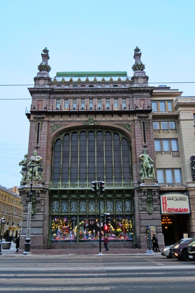Театр комедии, Санкт-Петербург, Питер, прогулка, зима, Невский проспект,