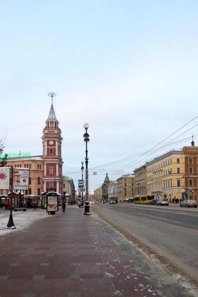 Санкт-Петербург, Питер, прогулка, зима, Невский проспект,