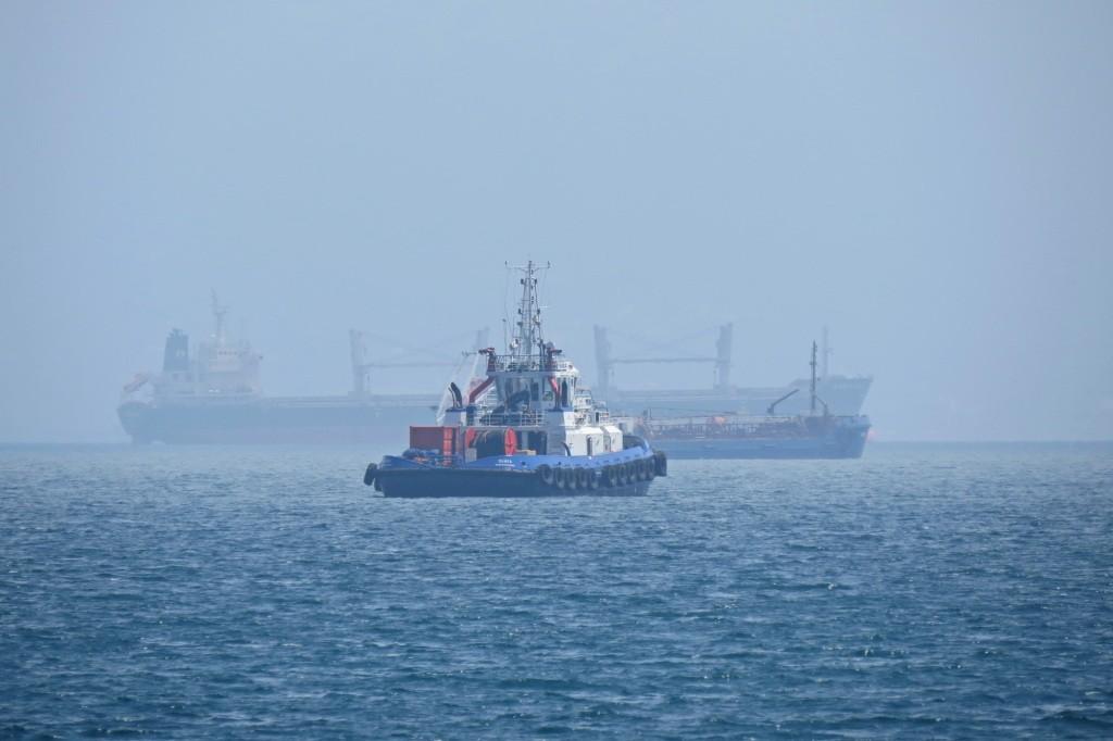 Новороссийск, море, корабли, туман