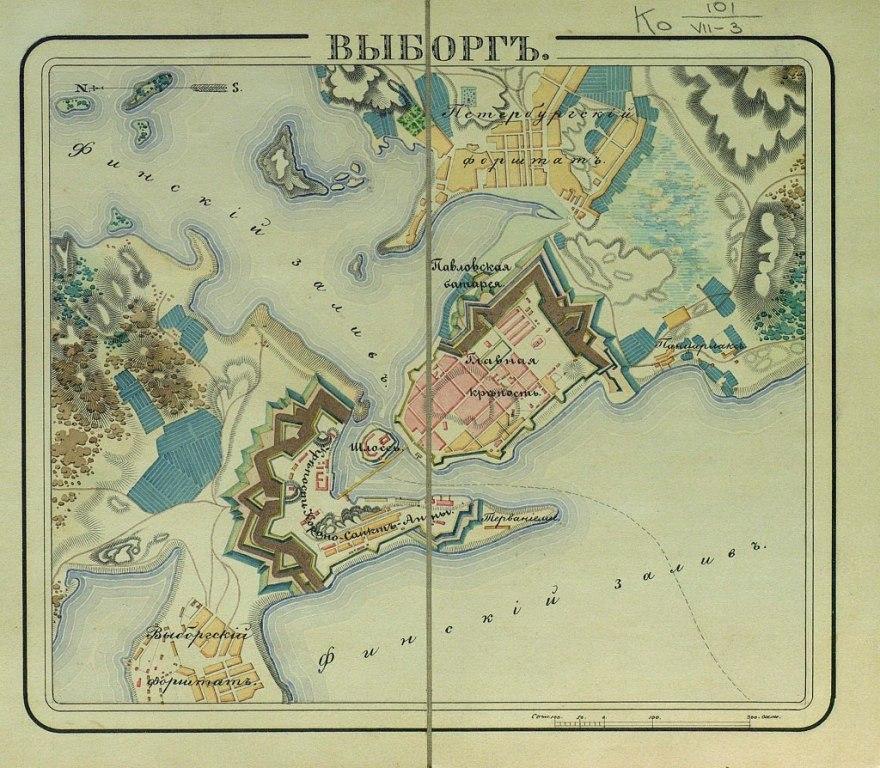 Выборг, карта