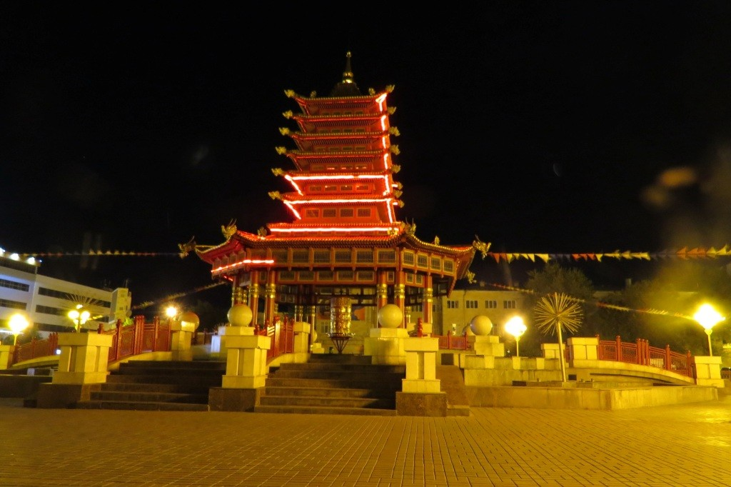 Пагода семи дней, Элиста, Калмыкия
