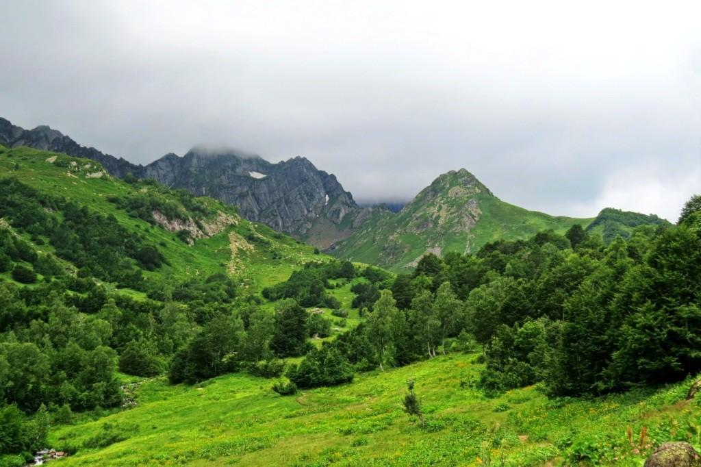 Кавказ, горы, Абхазия, Мзы