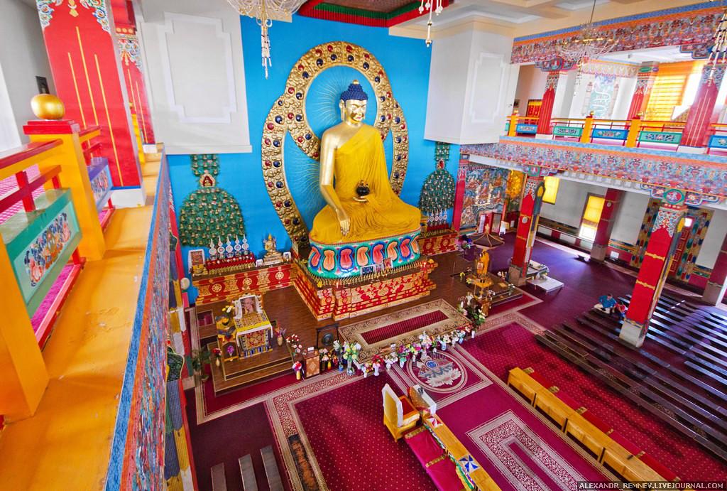 Внутри обители, Золотая обитель, Будда Шакьямуни, Элиста, буддизм, хурул