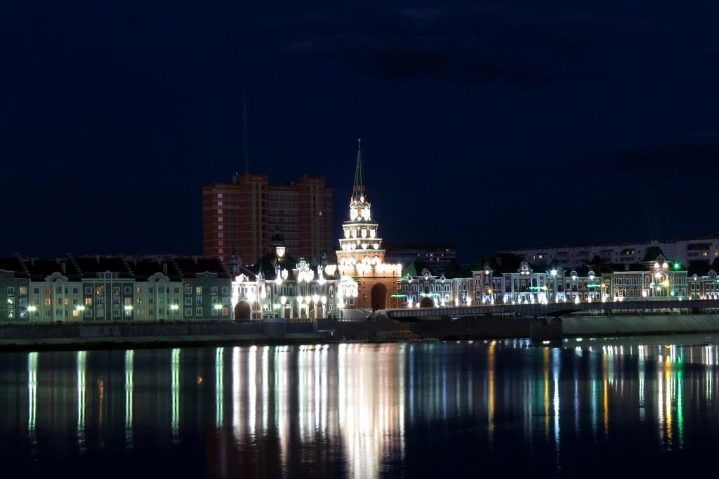Йошкар-Ола, Марий Эл, театр кукол, замок, 12 апостолов, патриаршая площадь, ночная Йошкар-Ола