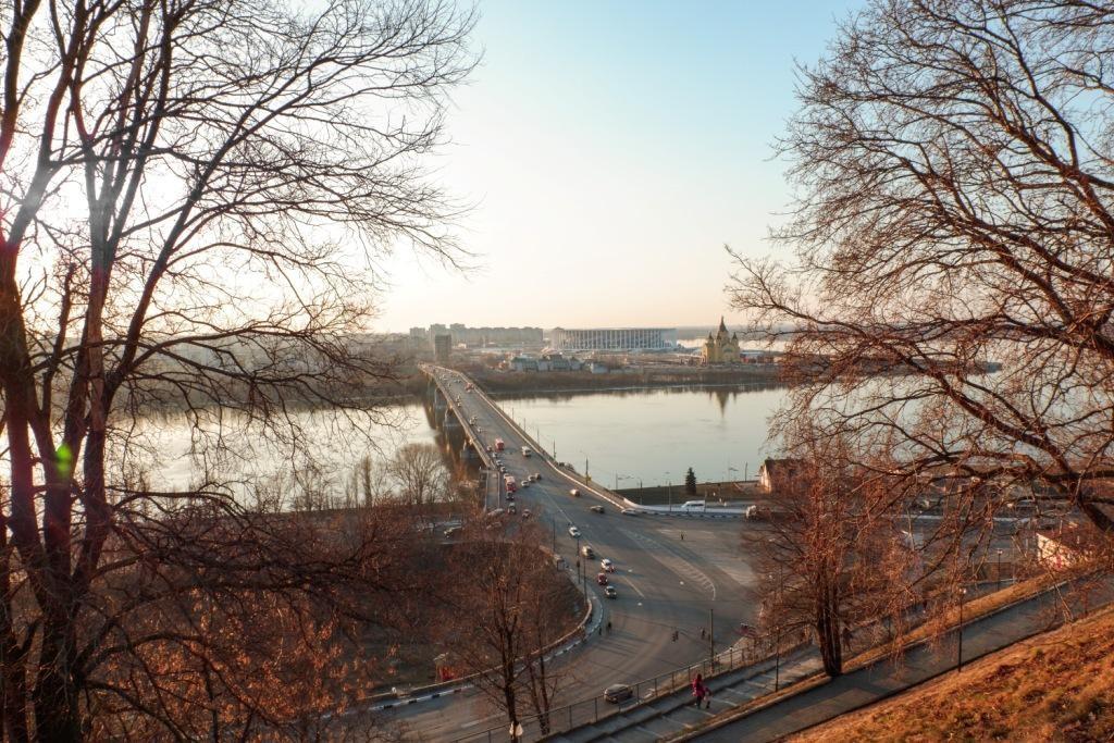 Нижний Новгород, набережная Федоровского, Стрелка, слияние Оки и Волги, достопримечательности Нижнего Новгорода