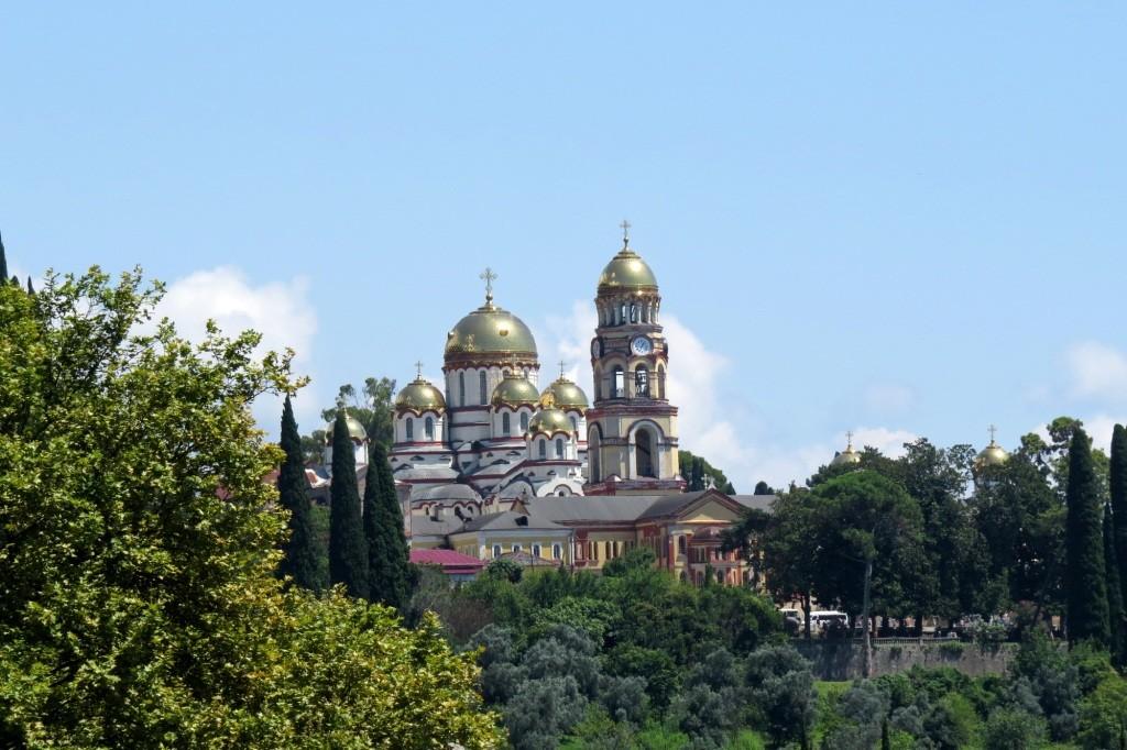Новый Афон, Абхазия, Новоафонский монастырь, Симон Кананит, грот Симона Кананита, достопримечательности