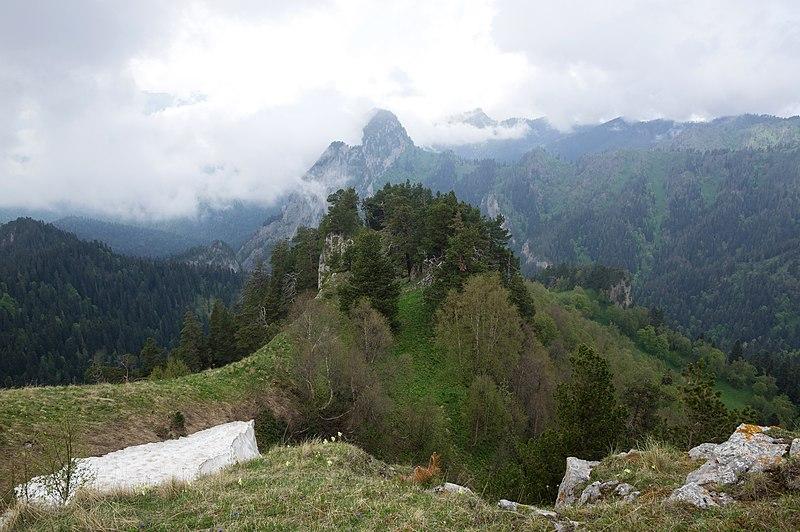 Большой Тхач, Алыгея, Кавказ, Северный Кавказ, на автомобиле на Кавказ,