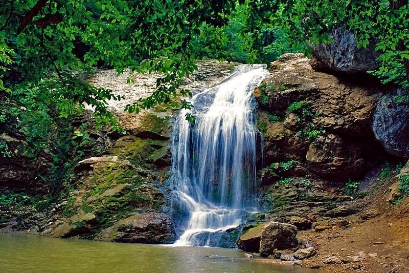 Водопад Руфабго Шум, Алыгея, Кавказ, Северный Кавказ, на автомобиле на Кавказ,